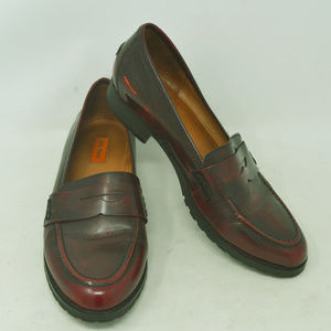 Miz Mooz Women's Red Leather Loafers